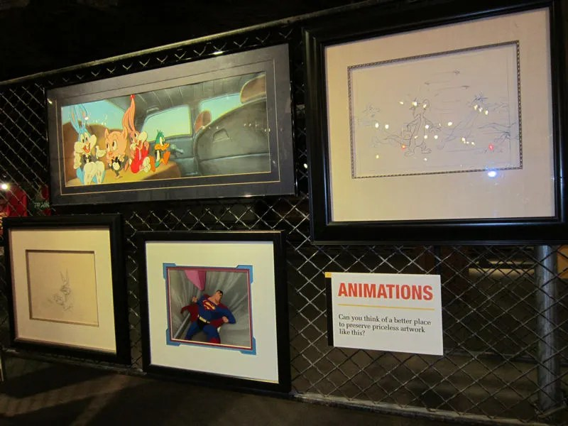 animation cels, Underground Salt Museum, Hutchinson, Kansas