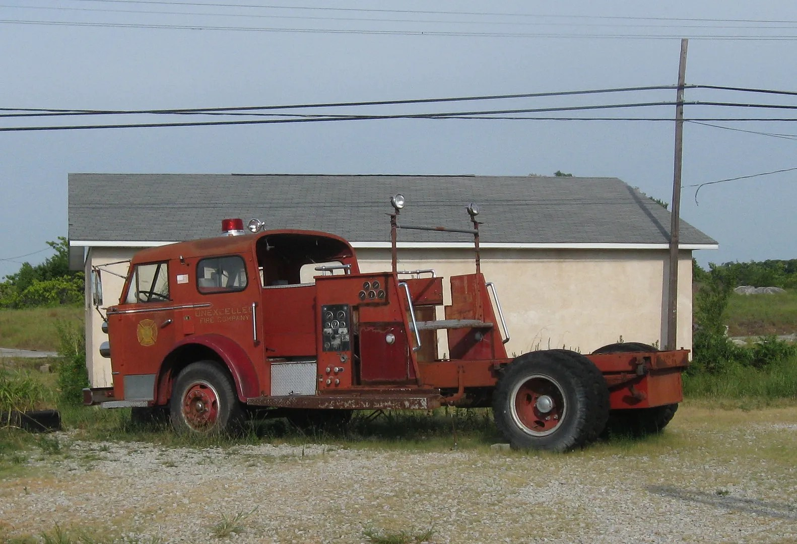 fire truck chassis, Route 66, Galena, Kansas