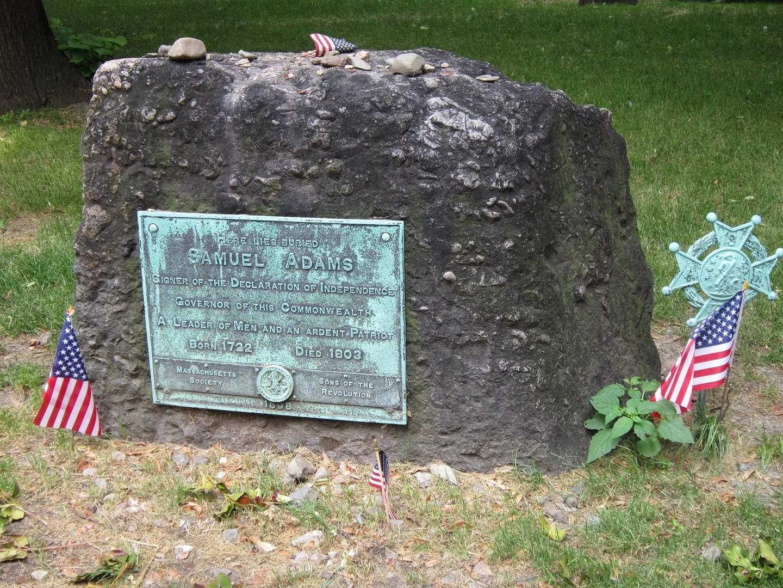 Samuel Adams gravesite, Granary Burying Ground, Boston
