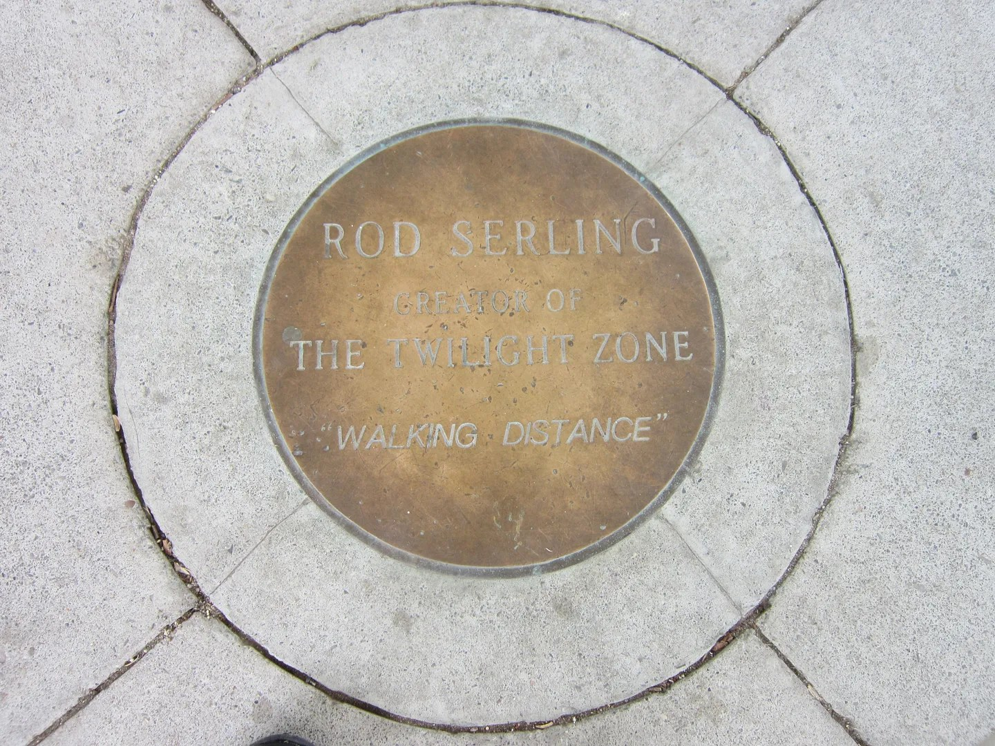 Twilight Zone Rod Serling pavilion plaque, Binghamton