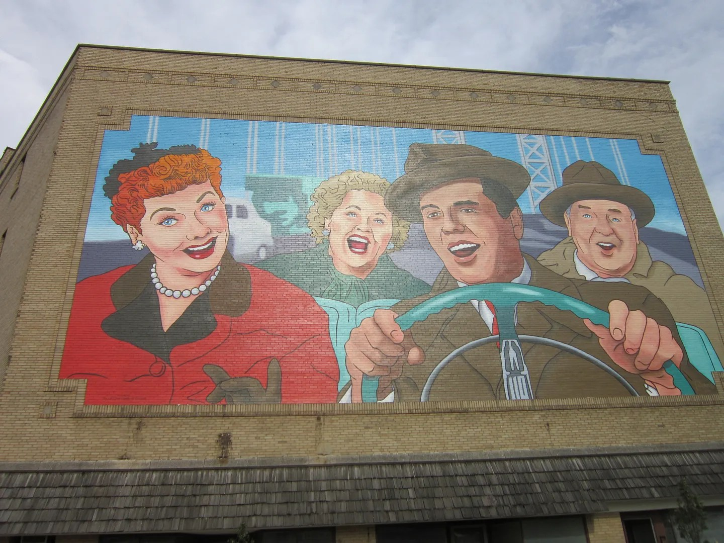 I Love Lucy mural, Jamestown, New York