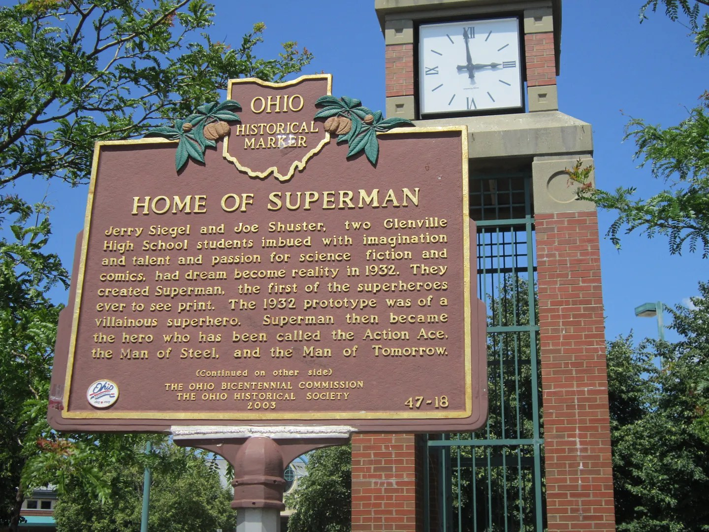 Home of Superman plaque, Cleveland