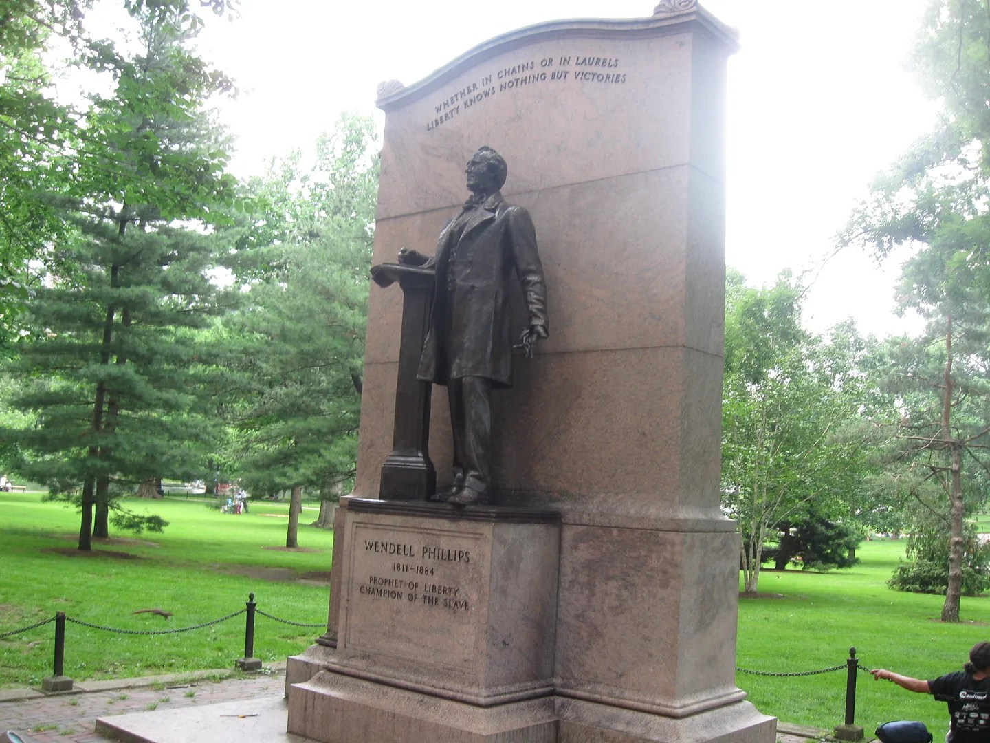 Wendell Phillips statue, Boston Public Garden