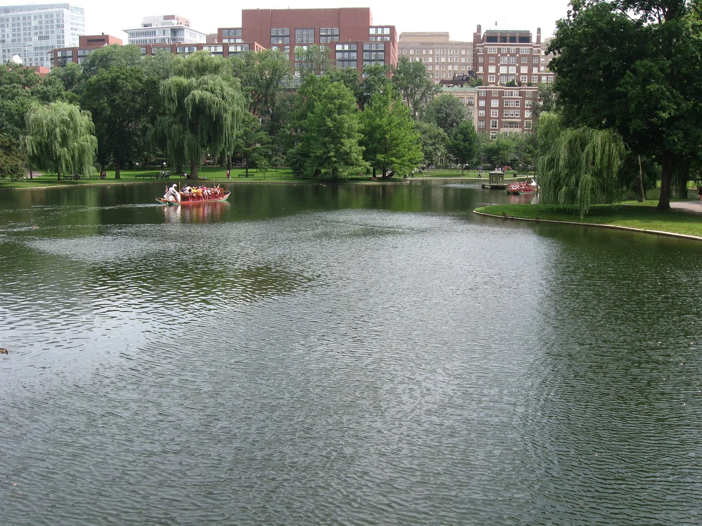 Boston Public Gardens lagoon ripples