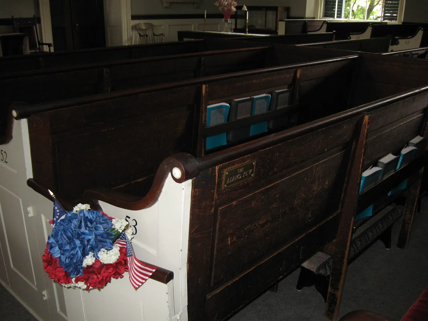 John Adams family pew, United First Parish Church, Quincy