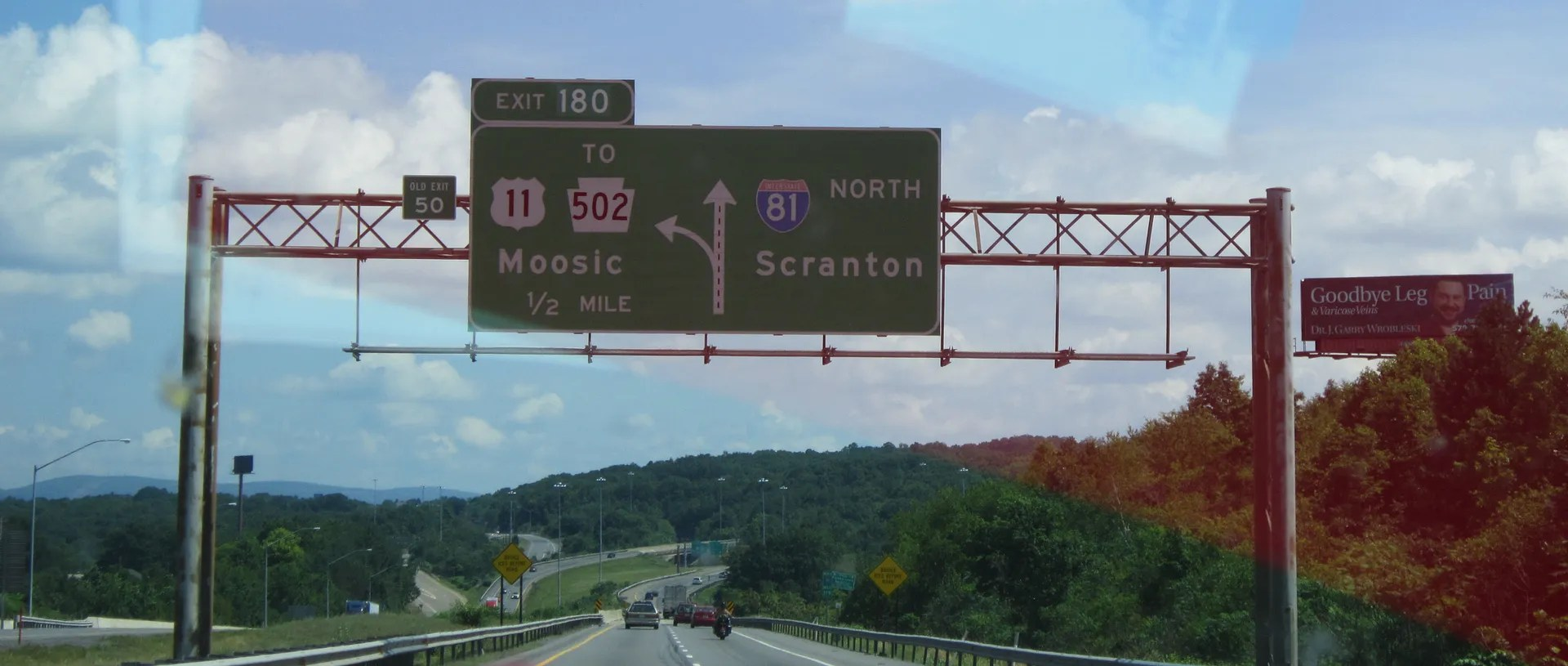 Scranton interstate sign, Pennsylvania