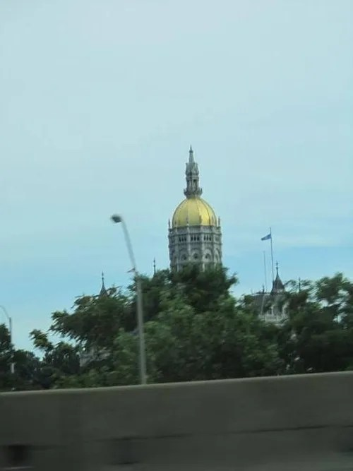 Hartford gold leaf capitol dome