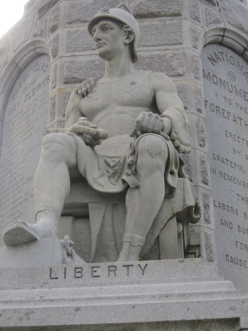Liberty statue,National Monument to the Forefathers, Plymouth, Massachusetts