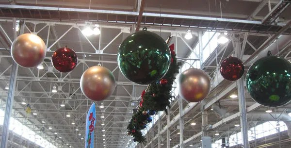 giant Christmas ornaments