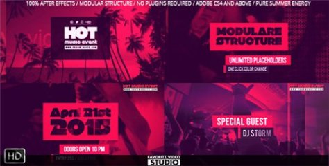 Hot Music Event - After Effects Project (Videohive)