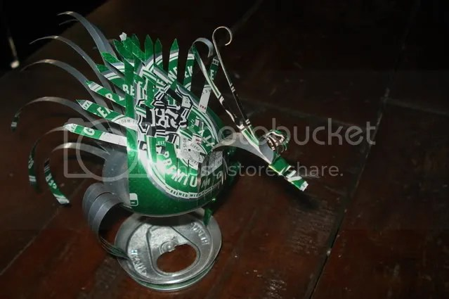 beer can peacock