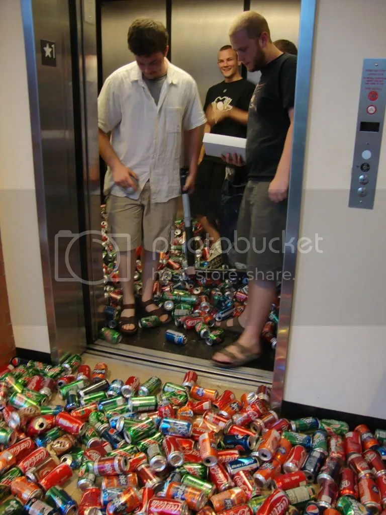 Cans vs. Elevator