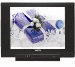 "A 21"" and 14"" Sanyo TV Combo for only Php 9, 995."