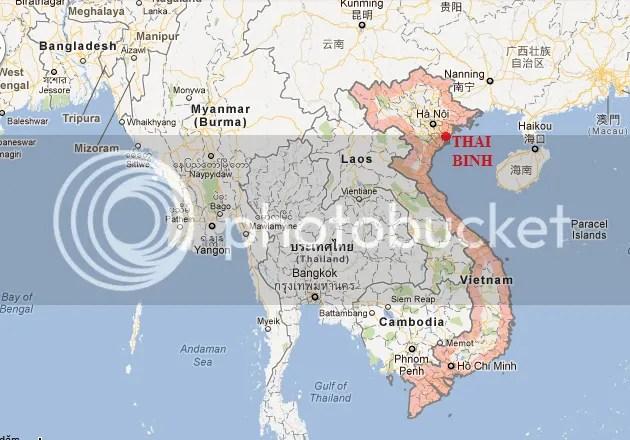 Thai binh map