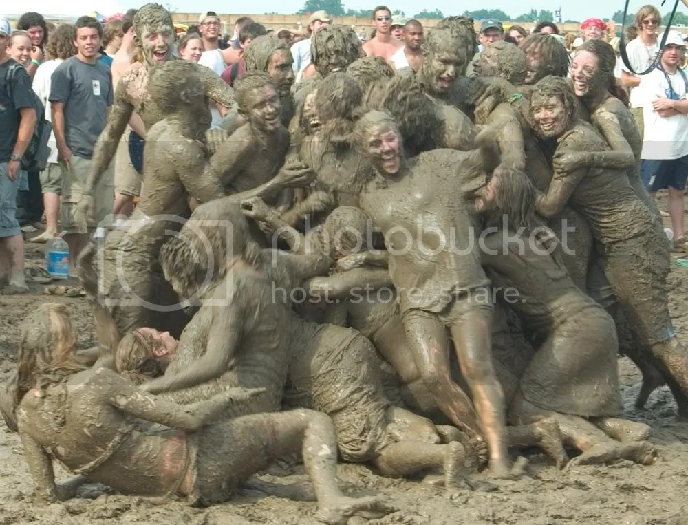 There wasnt actually any mud. Hippies are just this dirty.