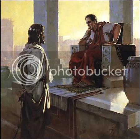 Jesus before Pilate photo: Jesus before Pontius Pilate jesuspilate1.jpg