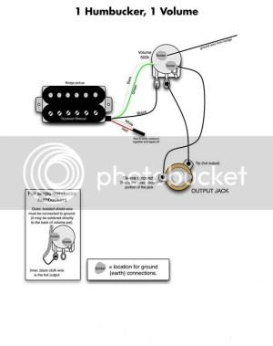 Single humbucker wiring   My Les Paul Forum