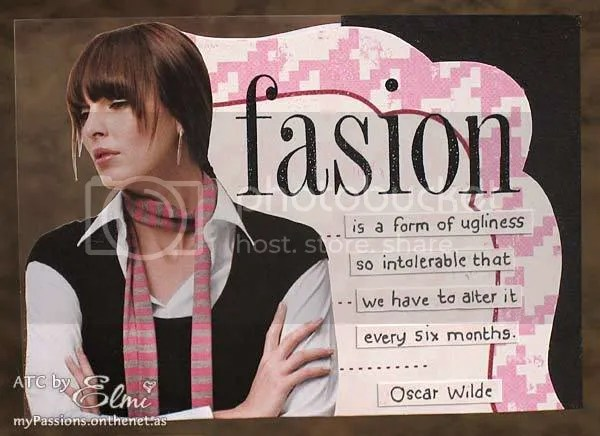 'Oscar Wilde quote' ATC