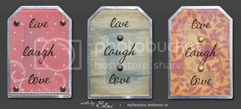 """Live Laugh Love"" magnets"