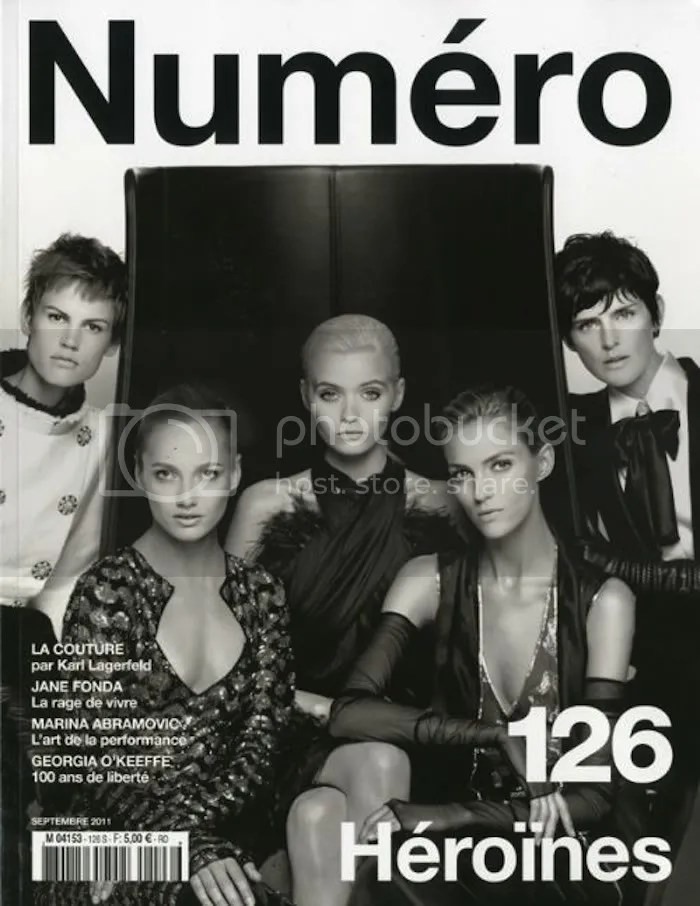 Numero Magazine 126: Saskia, Karmen Pedaru, Anja Rubik, Abbey Lee Kershaw, Stella Tennant