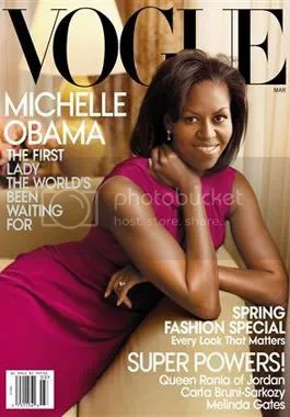 The highly buzzed about Michelle Obama cover shot by Annie Leibovitz