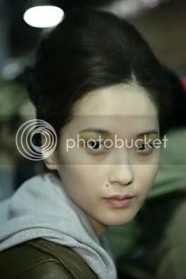 Hye Park backstage at Derek Lam