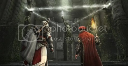 Ezio and Leonardo at the Pythagorean Temple