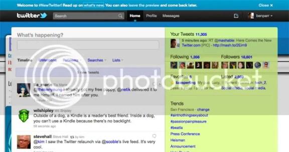 Tampilan Home Screen Twitter
