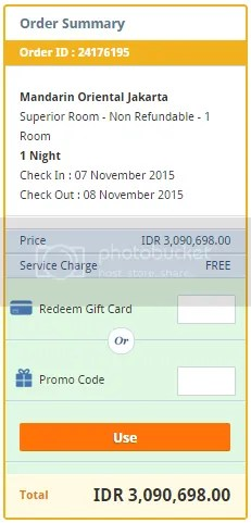 harga kamar Mandarin Oriental Jakarta di Tiket