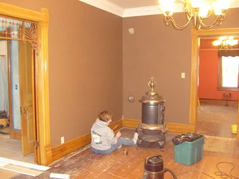 1893 Victorian Farmhouse Restoring The Parlor