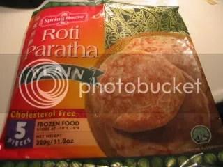 Penampakan Kemasan Roti Paratha