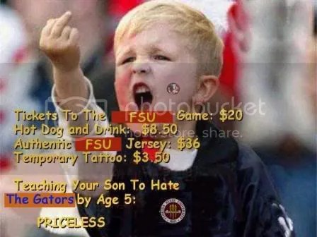 Image result for fsu kid flicking off
