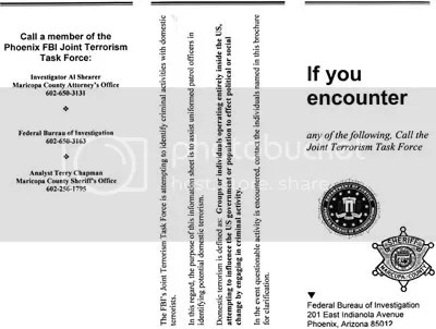 "Echoes of a decade ago: A ""terrorist threat"" assessment issued in 1999 by the Phoenix FBI Joint Terrorism Task Force identified ""constitutionalists"" as a potential threat — but didn't mention the possibility of a backlash from Muslim radicals riled up by Washington's foreign policy."