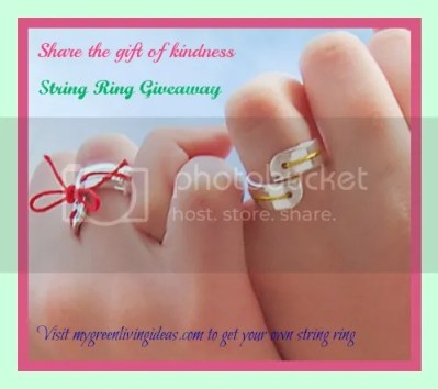 share the gift of kindness, string ring giveaway