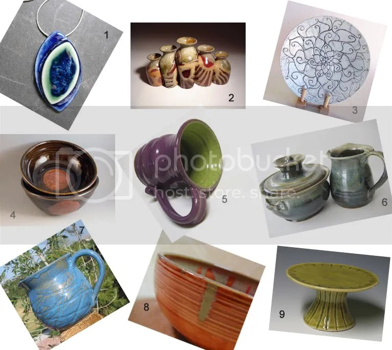 Etsy Pottery Inspiration Board