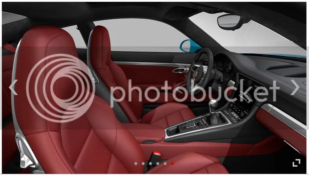 Bordeaux Red 2016 Porsche 911 Interior