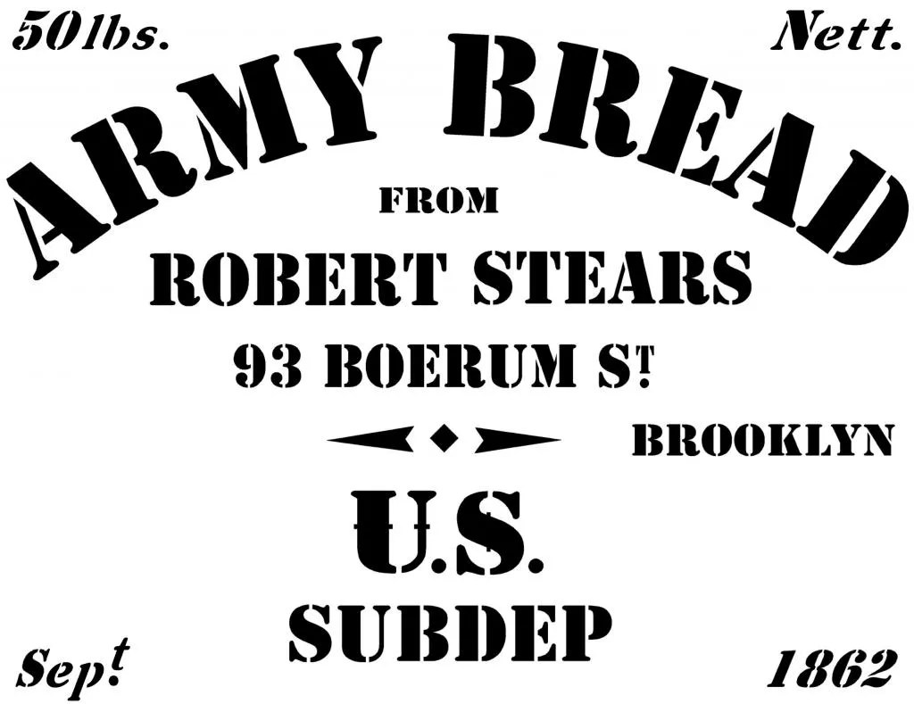 Robert Stears Stencil For Hardtack Crate Photo By