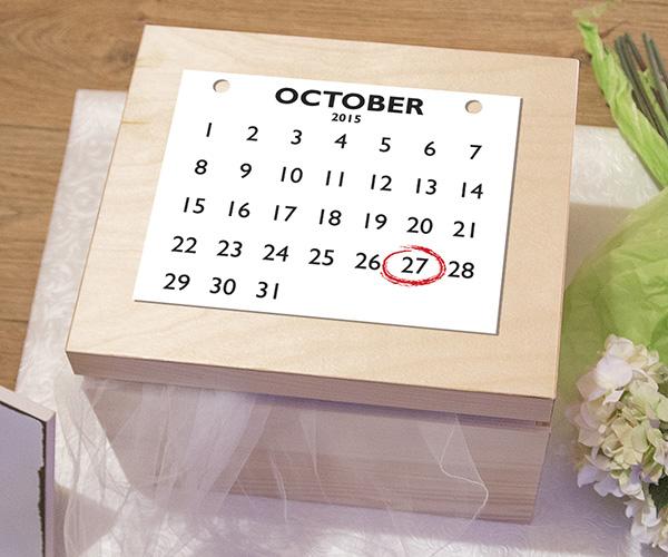 Personalised Anniversary Keepsake Box