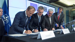 NATO and EU leaders sign joint declaration