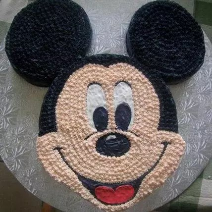 Funny Mickey Mouse Cake 2kg Chocolate Gift Mickey Face