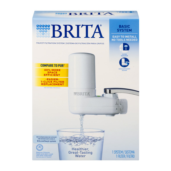 save on brita basic system faucet filtration system white order online delivery giant