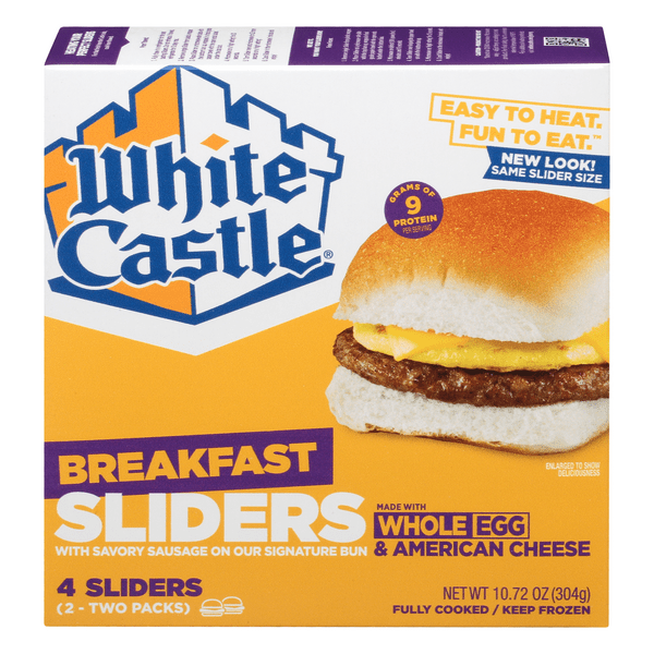 white castle breakfast sliders sausage egg cheese 4 ct