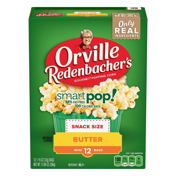 orville redenbacher s smart pop microwave popcorn single serve butter