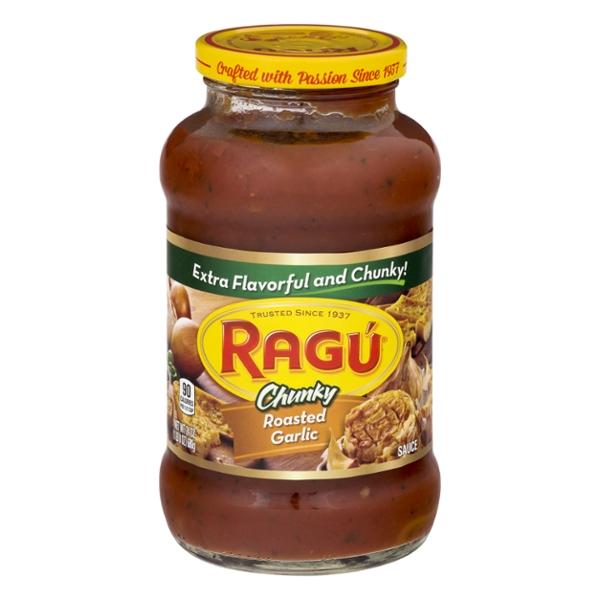 ragu chunky pasta sauce roasted garlic