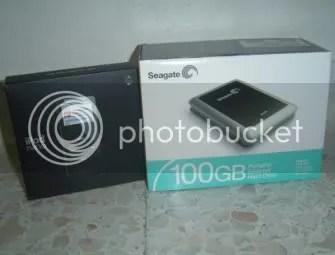 My New Apple iPod Nano and Seagate 100GB Hard Drive.