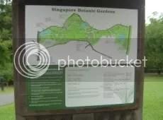 A Map Of Singapore Botanic Gardens.