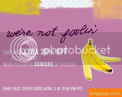 Shopbop april sale