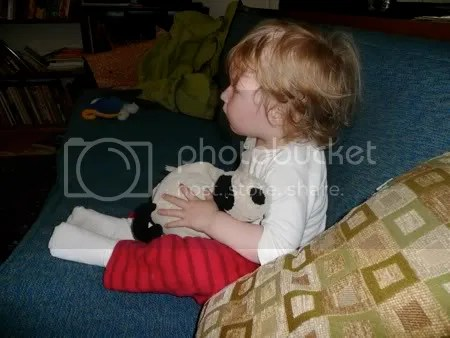 Phoebe watching TV