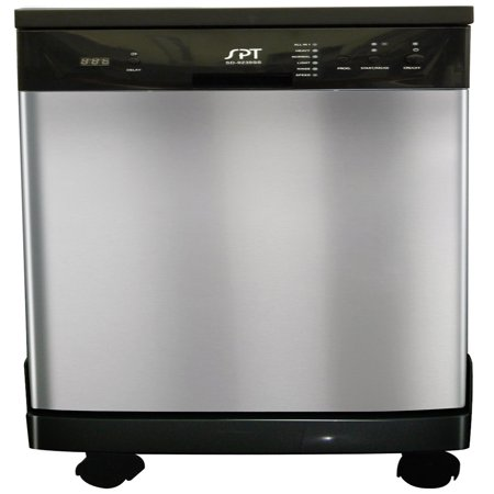 """Sunpentown 18"""" Portable Energy Star Dishwasher in Stainless Steel"""