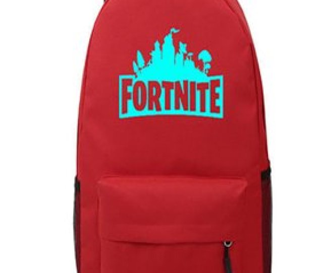 Product Image Game Fortnite Battle Royale Backpack Luminous Fortnite School Bags Red